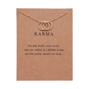 3/$20 Karma necklace 3 rings gold plated rings
